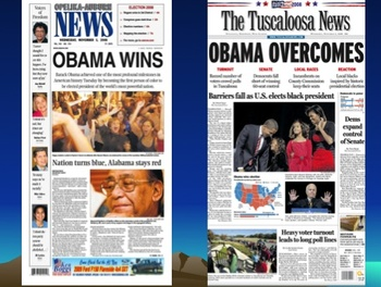 Looking Down From the Mountaintop: Comparing Media Reactions to Obama's Election