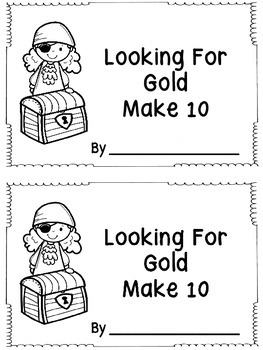 Looking For Gold Make 10 - Pirate Theme Booklet
