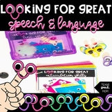 Looking For Great Speech & Language BUNDLE: a no-prep activity