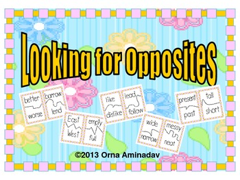 Looking For Opposites- Antonyms