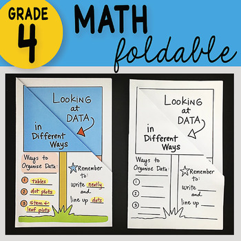 Math Doodle - Looking at Data in Different Ways ~ INB Foldable Notes ~