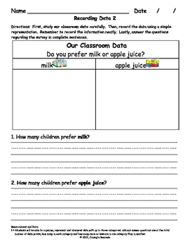 Analyzing Data in the Primary Grades