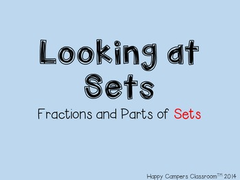 Looking at Sets - Fractions PowerPoint