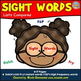 Sight Word Lists Compared