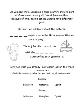 Looking at Work- Iqaluit, Meteghan, Saskatoon