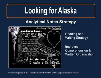 Looking for Alaska: Analytical Notes Organizer with Sample Cited Text