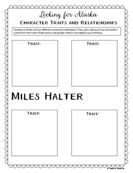 Looking for Alaska Character Analysis