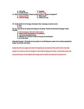 Looking for Alaska IR Exam