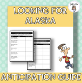 Looking for Alaska Pre Reading Activities and Anticipation Guide