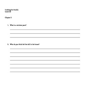 Looking for Amelia, comprehension questions and answers