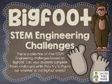 Looking for Bigfoot - STEM Engineering Challenges - Set of Five!