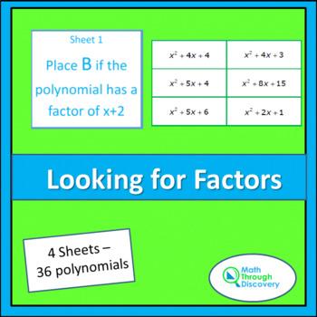 Looking for Factors