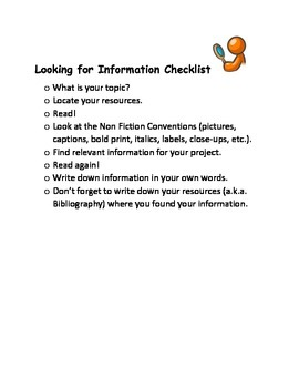 Looking for Information Checklist