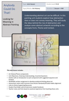 Looking for Meaning in Abstract Painting - Art History mini-lesson
