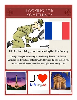 Looking for Something? : 10 Tips for Using your French-English Dictionary