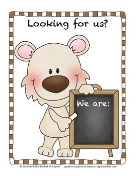 'Looking for Us' Door sign 3