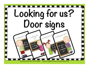 'Looking for Us' Door sign 4