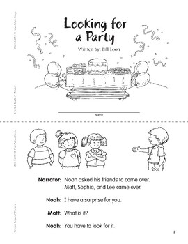 Looking for a Party (Leveled Readers' Theater, Grade 1)