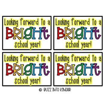 Looking forward to a BRIGHT year! -- An Open House Gift (Crayons or Markers)