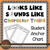 Looks Like Sounds Like Character Traits Student Anchor Cha
