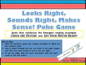 Looks Right, Sounds Right, Makes Sense! Poke Game (Emergen