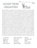 Looney Tunes Word Search (difficult) and Coloring Page   (SUB PLAN use?)