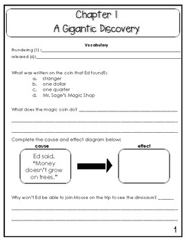 Looniverse: Dinosaur Disaster Comprehension Questions (Book #3)