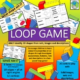 Loop Game - 3D shapes, nets, solids and descriptions (26 game cards)