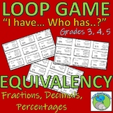 Loop Game - Equivalency in Fractions, Decimals and Percentages (Math)
