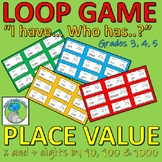 Loop Game - Place Value - Multipying and Dividing by 10, 100 and 1000 (decimals)