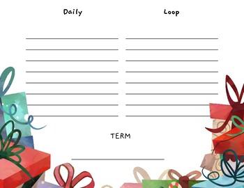 Loop Schedule - Christmas Themed