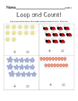 Loop and Count K.NBT.1 Tens and Ones Practice