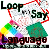 Loop and Say Language: All Seasons GeoBoard Activity for Speech Therapy