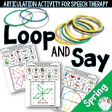 Loop and Say: Spring GeoBoard Articulation Activity for Sp