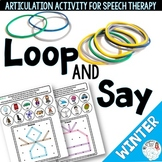 Loop and Say: Winter Articulation Activity for Speech Therapy