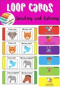 Loop cards - speaking and listening