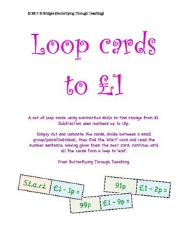 Subtraction loop cards to 1 pound