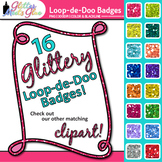 Loop-de-Doo Frame Clip Art | Rainbow Glitter Labels for Worksheets and Resources