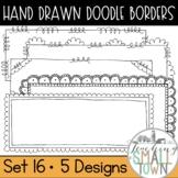 Loop-de-do Rectangular Doodle Frames [Set 1] 20 Frames for Commercial Use