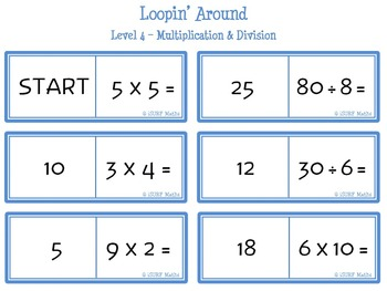 Loopin' Around: Level 4 - Multiplication & Division
