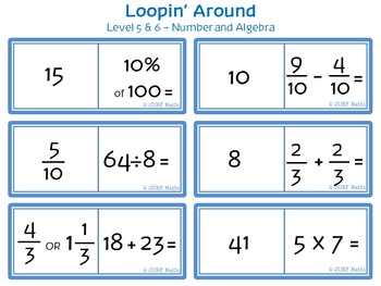 Loopin' Around: Level 5 & 6 - Number