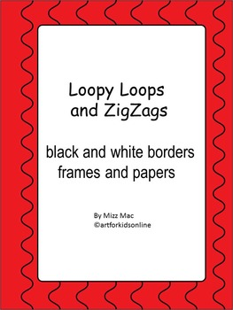Loops ZigZags black and white borders and frames