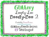 Loopty-Loo Doodly-Doo 2 Glitter Clip Art Frames Commercial Use