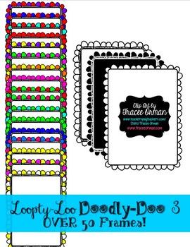 Loopty-Loo Doodly-Doo 3 Clip Art Frames Commercial Use