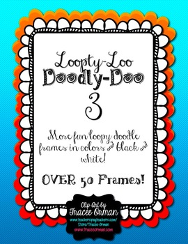 Loopty-Loo Doodly-Doo 3 Clip Art Frames Commercial Use