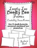 Loopty-Loo Doodly-Doo Clip Art Frames Commercial Use