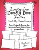 Loopty-Loo Doodly-Doo Clip Art Frames Commercial Use