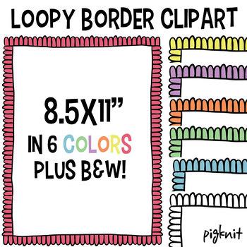 Loopy Border Doodle Clipart   Clip Art Frame
