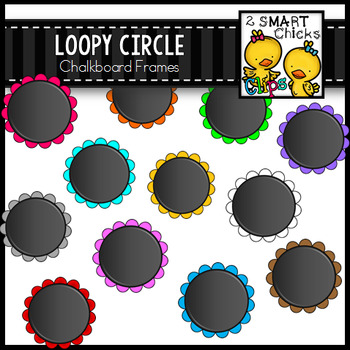 Loopy Circle Chalkboard Frames
