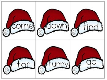 Sight Word Game: Loopy Loop-Christmas Edition